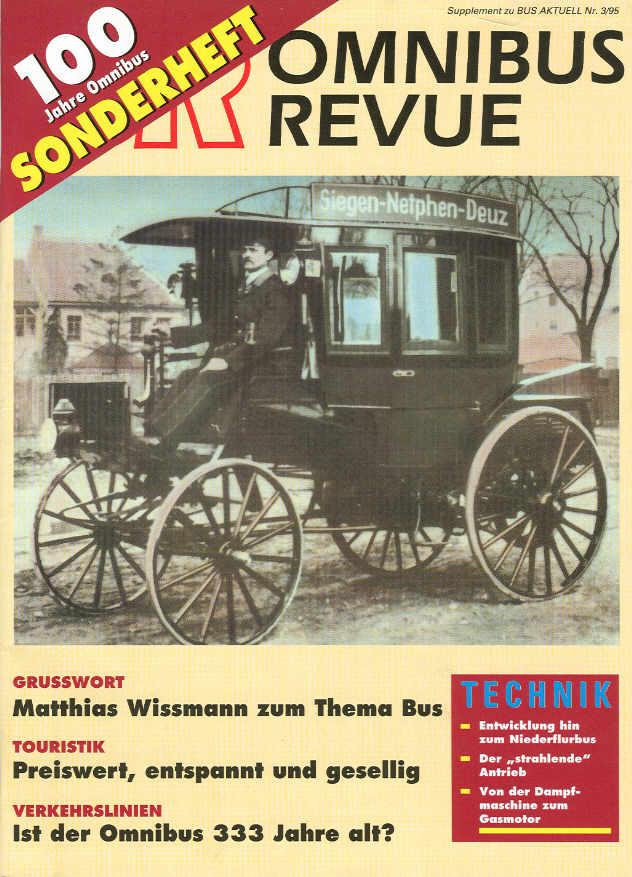 100 Jahre Omnibus Sonderheft der OR zum Jubiläum