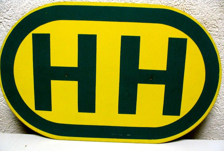 Haltestellen-Schild -H H
