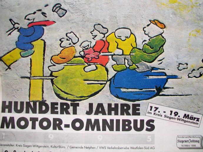 100 Jahre Motor-Omnibus Zeitungsbeilage