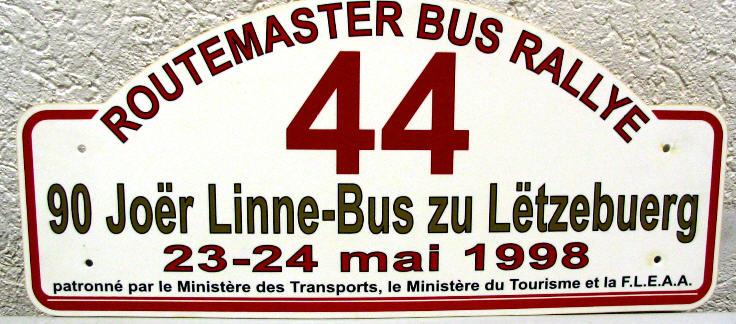 Routemaster -  Kunststoff 90 Joer Linne-Bus Luxembourg