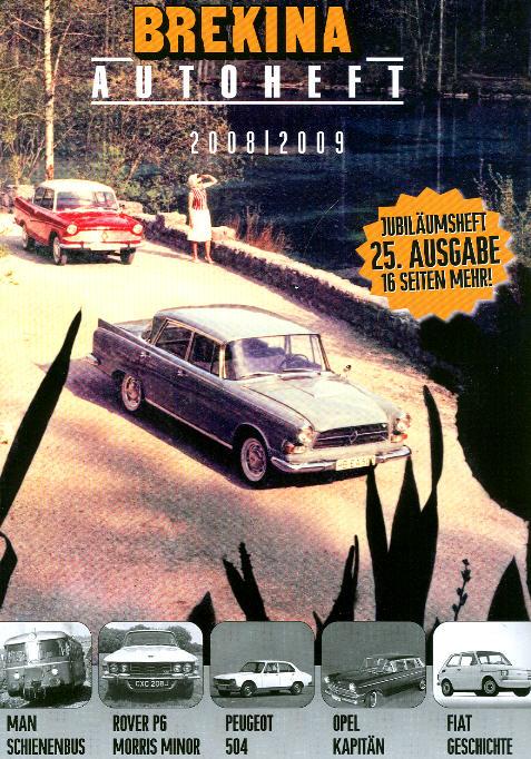 Brekina-Autoheft Gesamtprogramm 2008/2009