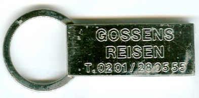 Schlüssel-Anhänger Gossens-Reisen, Essen