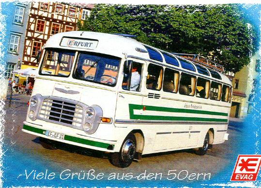 Postkarte Ikarus 31 Erfurt