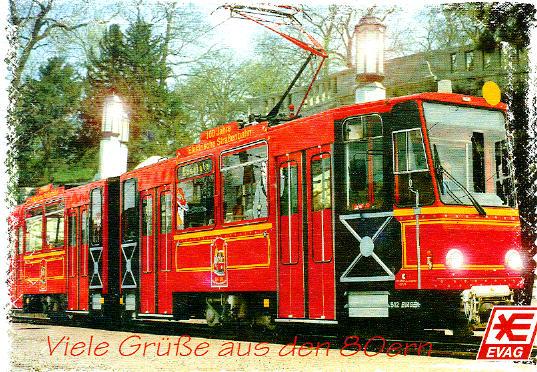 Postkarte Straba Gelenktriebwagen 512 Erfurt