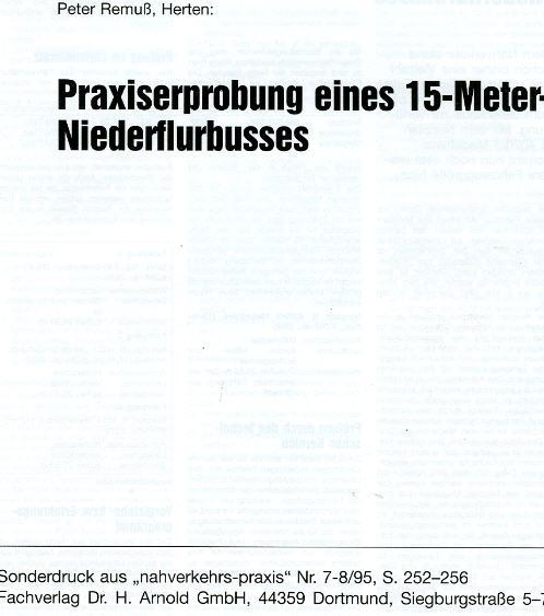 Neoplan-Praxiserprobung 15m Niederflur