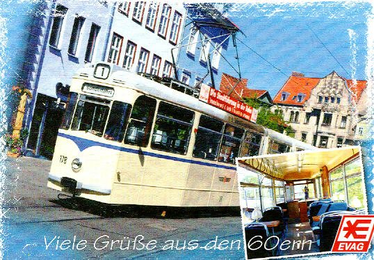 Postkarte Straba Gelenktriebwagen 178 Erfurt