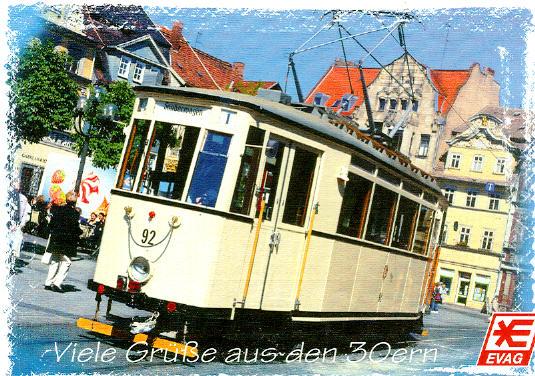 Postkarte Straba Traditionsbahn 1938 Erfurt