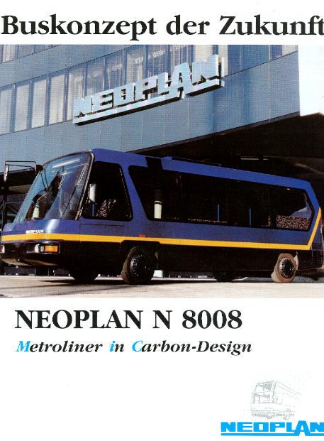 Prospekte Neoplan -  Metroliner - MIC N 8008