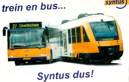 Aufkleber Bus/Bahn, Syntus NL