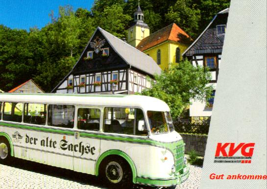 Postkarte KVG -  H6B, der alte Sachse