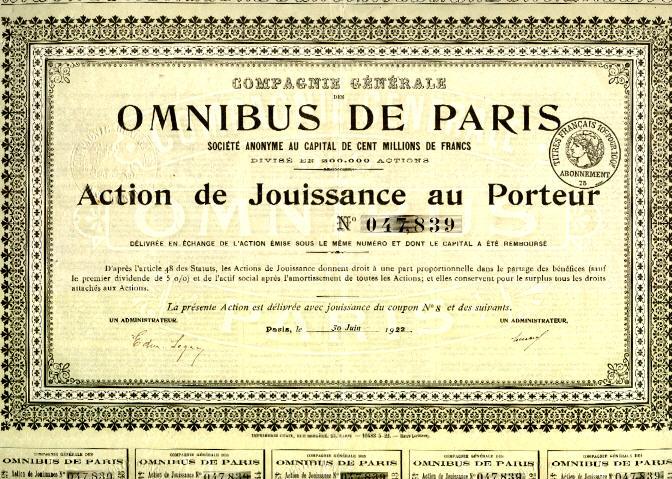 Omnibus de Paris 9 Aktien