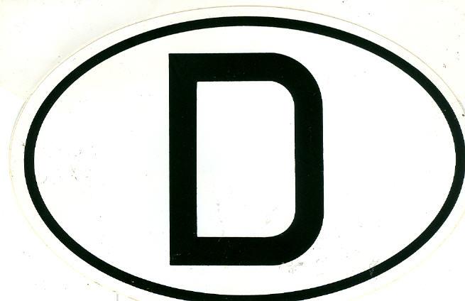 Aufkleber - Bus D - Schild