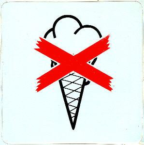 Aufkleber - Bus Eis verboten