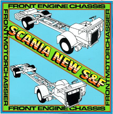 Aufkleber Scania New S&F