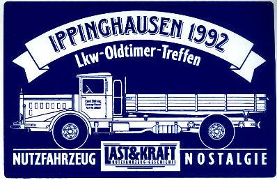 Aufkleber Ippinghausen 1992 LKW-Oldtimer-Treffen