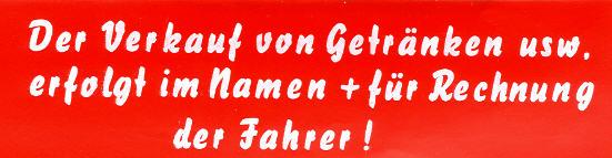 Aufkleber - Bus Der Verkauf von Getränken..