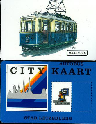 City-Kaart Letzebuerg Straba 1938-1964