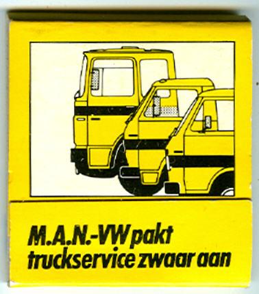 Streichholzbrief MAN-VW truck
