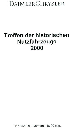 Treffen der historischen Nutzfahrzeuge 2000
