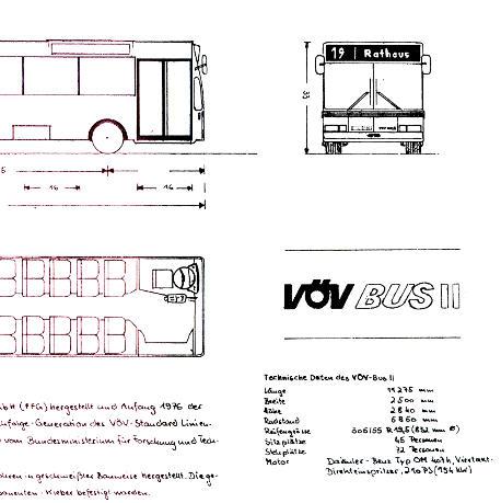 Maßstabzeichnung 1:87 VÖV-Bus II