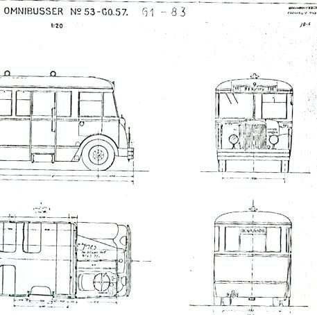 Maßstabzeichnung Omnibus 61-83 1:20  -