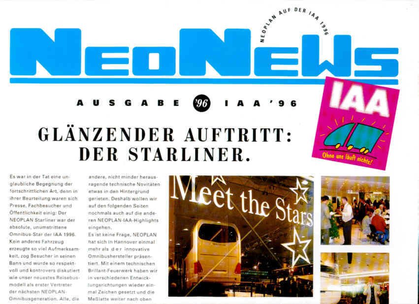 NEONEWS IAA '96 Starliner