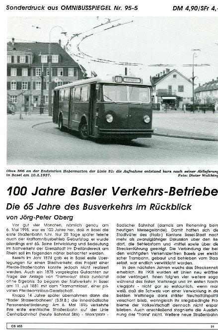 100 Jahre  Basler Verkehrsbetriebe