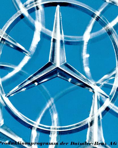 Prospekte Mercedes Benz -Produktionsprogramm