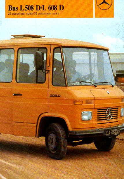 Prospekte Mercedes Benz MB   -  L 508D / L608D-Bus