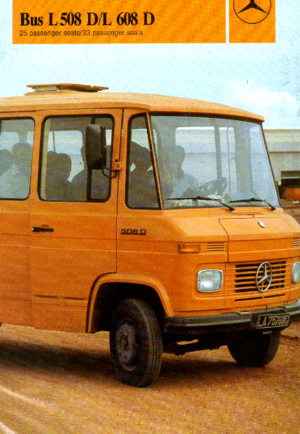 prospekte mercedes benz mb l 508d l608d bus omnibus modell shop rhein ruhr. Black Bedroom Furniture Sets. Home Design Ideas
