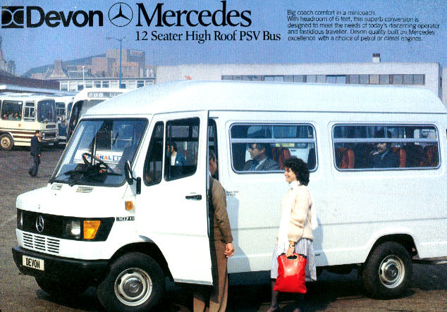 Prospekte Mercedes Benz MB   -  PSV-Bus High Roof