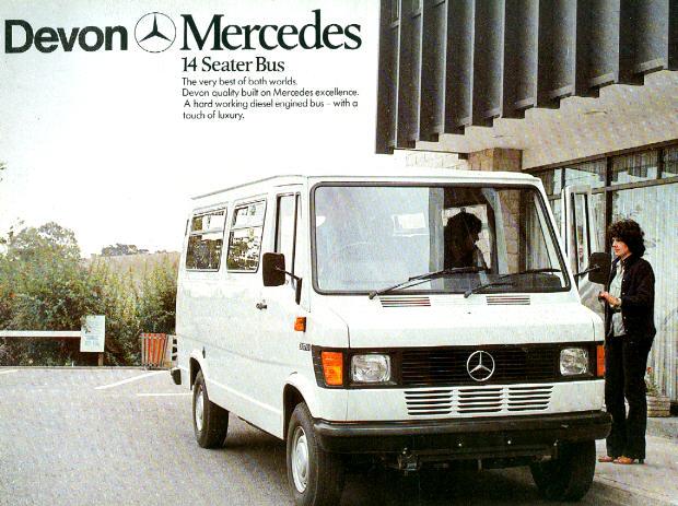 Prospekte Mercedes Benz MB   -  14-Seater-Bus