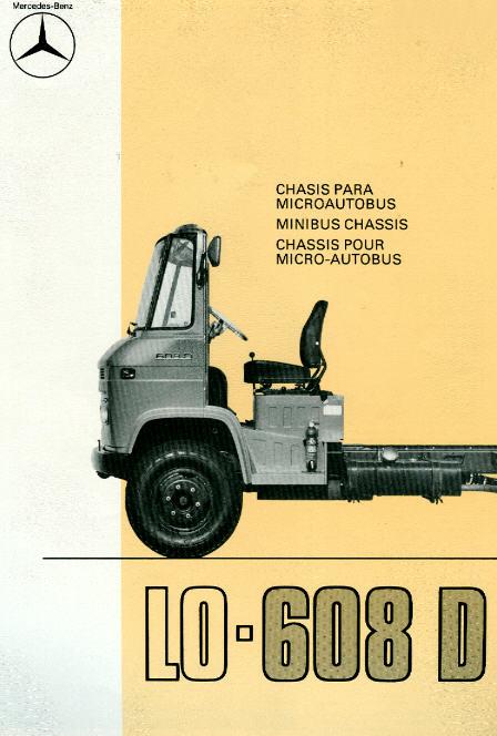 Prospekte Mercedes Benz MB  -  LO 606D - Fahrgest.