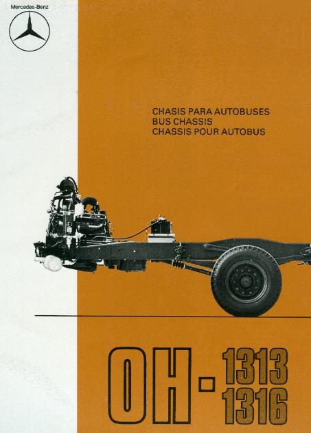 Prospekte Mercedes Benz MB  -  OH 1313/1316 - Fahrgest.