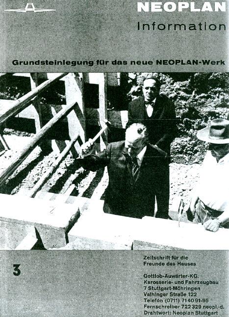 Neoplan-Information -  Nr.: 3 Grundsteinlegung Neoplan-Werk