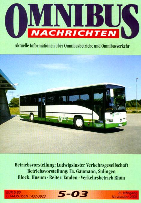 Omnibus-Nachrichten Nr.:5-03