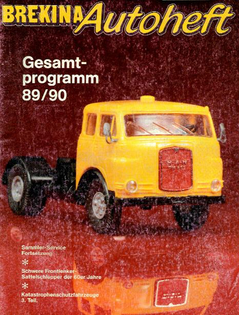 Brekina-Autoheft Gesamtprogramm 89/90