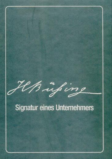 Büssing, Heinrich Signatur eines Unternehmers