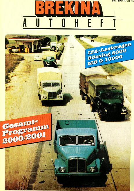 Brekina-Autoheft Gesamtprogramm 2000/2001