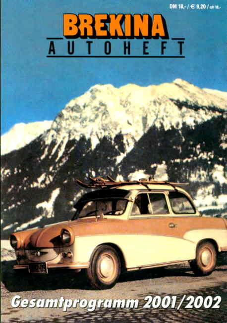 Brekina-Autoheft Gesamtprogramm 2001/2002