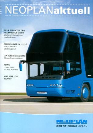 Neoplan - Aktuell 54 01/2003 -Hauszeitschrift