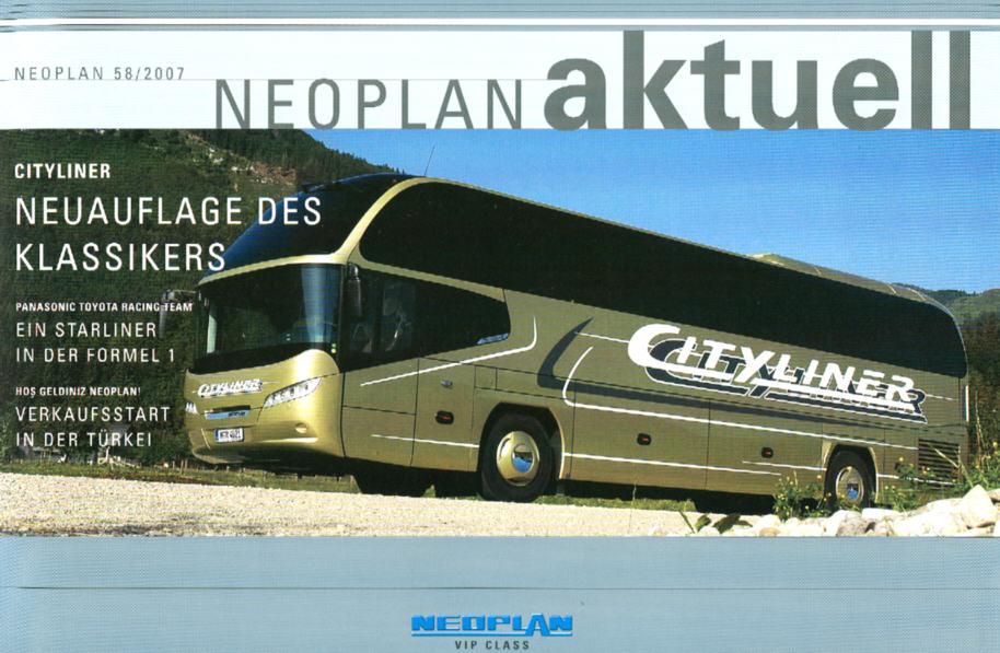 Neoplan - Aktuell 58 2007 Hauszeitschrift mit CD-ROM