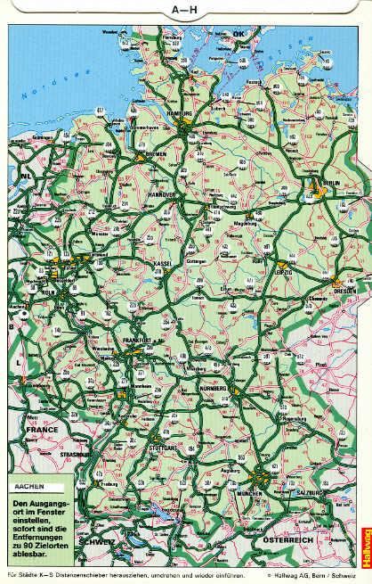Distoguide Deutschland Entfernungen zu 90 Zielorten