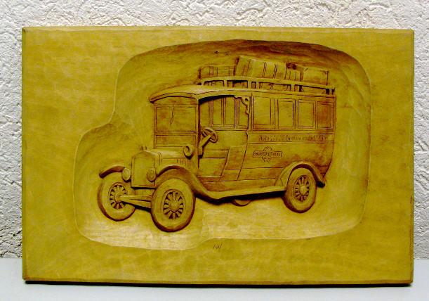 Holzbild Ford T 1920 Grein