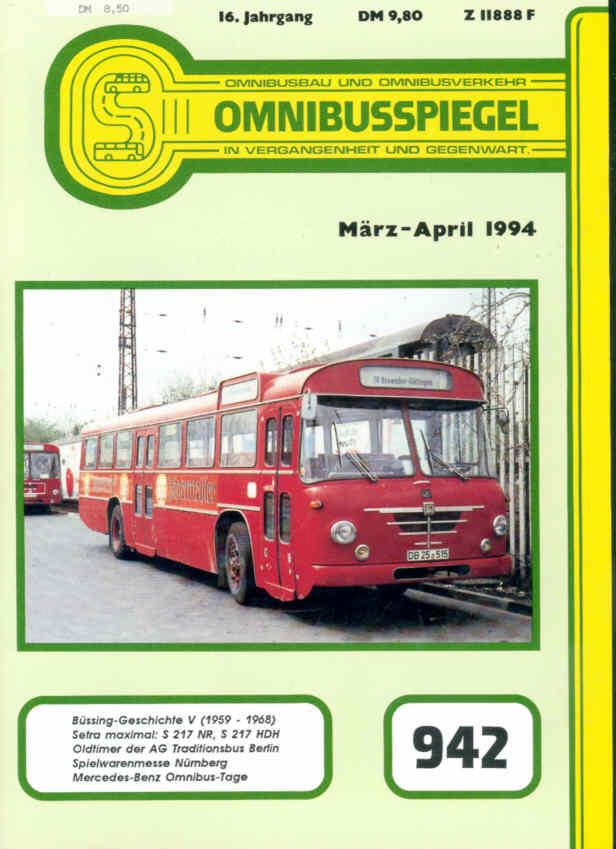 Omnibusspiegel Nr. 942 - Bericht Alpha-Liner