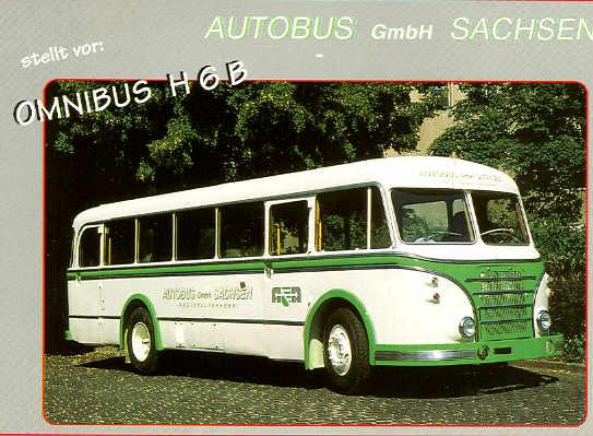 Omnibus-Postkarte H6B Autobus Sachsen