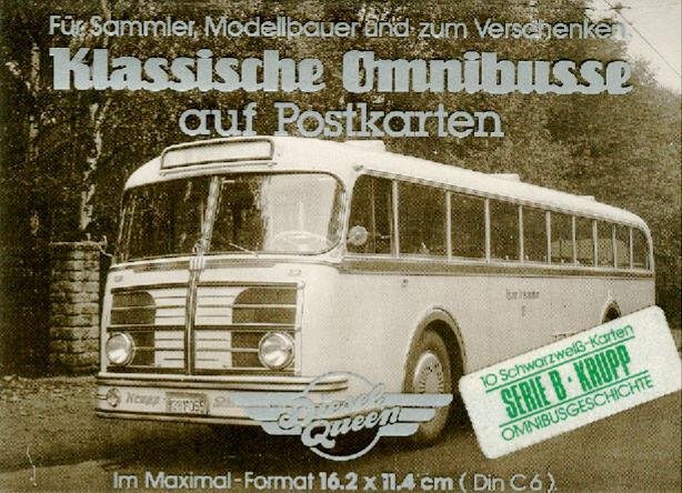 Postkarten Klassische Omnibusse Krupp