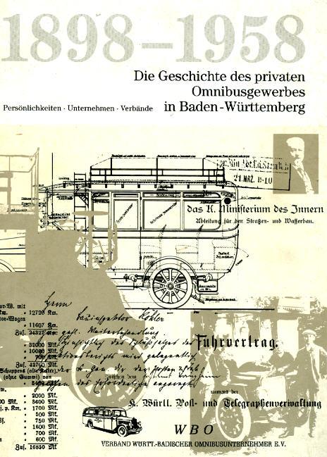 Die Geschichte des priv. Omnibusgewerbes in Bad.Württ