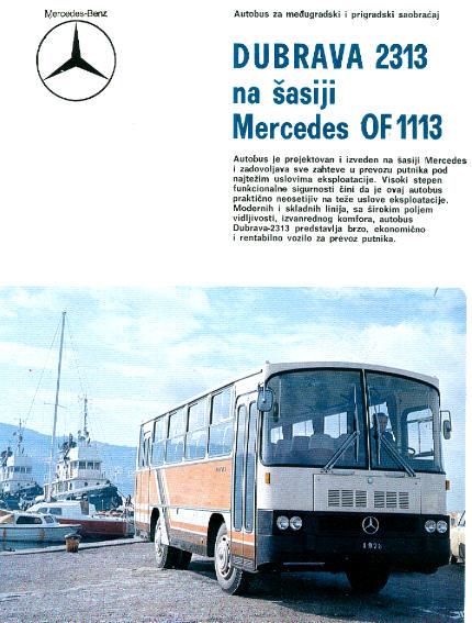 Prospekte Mercedes Benz MB  -  DUBRAVA 2313, MB  OF 1113