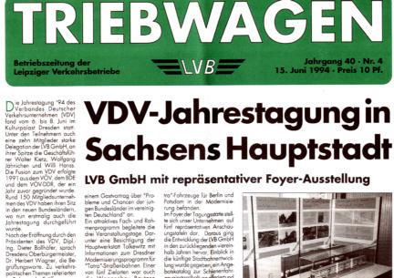 Triebwagen Leipziger VB